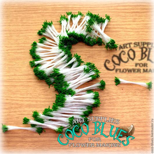 Тычинки удлиненные зеленые 100 пучков по 24 шт Тайские тычинки очень хорошего качества.  `Кокосов Блюз` Таиланд  © Coco Blues (Thailand) Co. Ltd