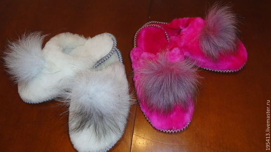 """Обувь ручной работы. Ярмарка Мастеров - ручная работа. Купить Тапочки женские, мутоновые """"Лапушки""""мягкие удобные,красивые. Handmade."""
