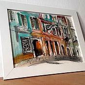 Картины и панно ручной работы. Ярмарка Мастеров - ручная работа Набережная в Венеции. Handmade.