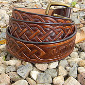 Аксессуары handmade. Livemaster - original item Men`s belt,leather,for jeans.. Handmade.