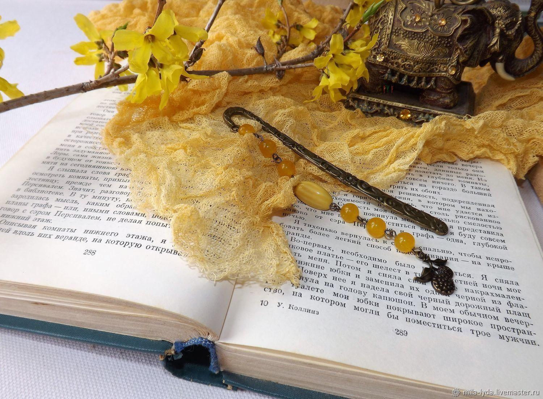 Подарок на день рождения Закладка для книги Апельсиновый десерт, Именные сувениры, Москва,  Фото №1