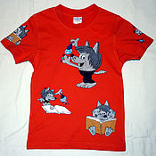 "Одежда handmade. Livemaster - original item Copy of T-shirt for kids ""Lego Batman"", hand-painted. Handmade."
