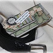 """Открытки ручной работы. Ярмарка Мастеров - ручная работа """"Ключ от счастья""""мужской конверт для денег, подарок мужчине. Handmade."""