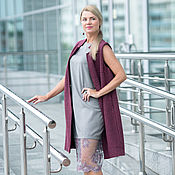 Одежда handmade. Livemaster - original item Dress made from Italian wool with pink lace. Handmade.