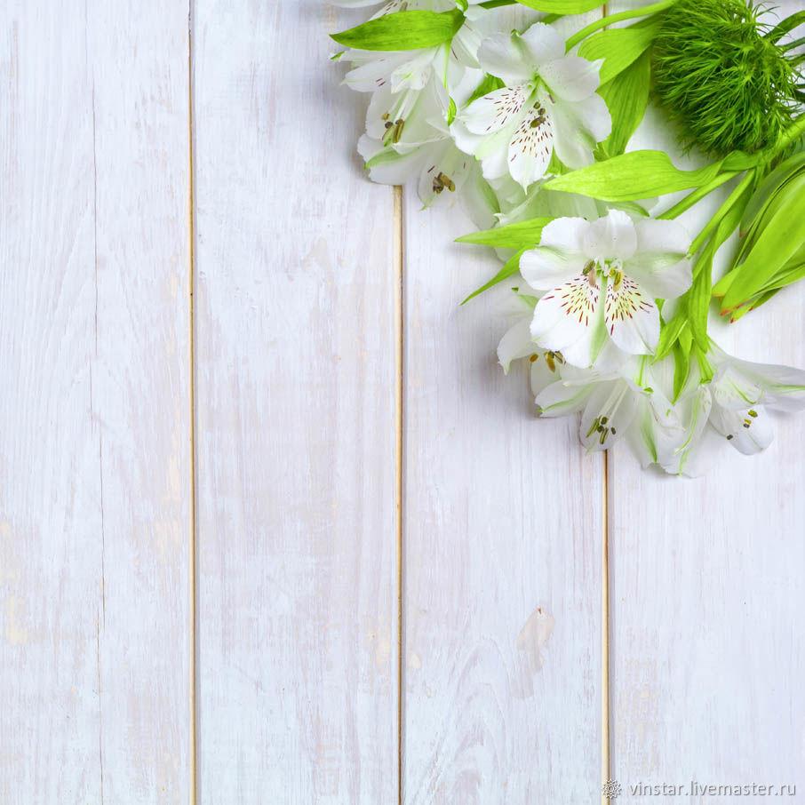 Фотофон виниловый Белая альстромерия, Фото, Курск,  Фото №1