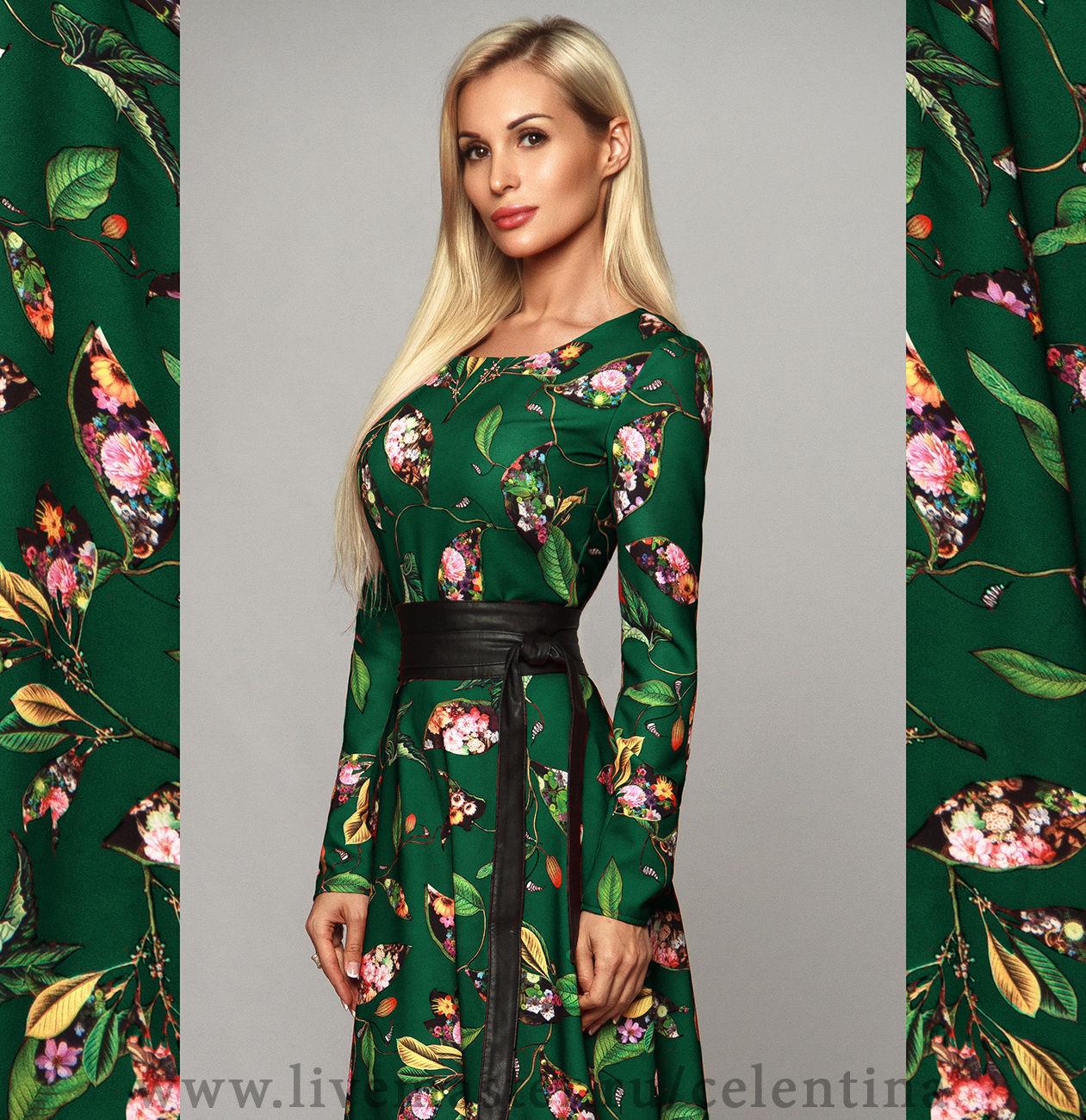 9da70abe3ca Весеннее цветочное платье с длинным рукавом Длинное нарядное зеленое платье  в пол. Весеннее цветочное платье с длинным рукавом ...