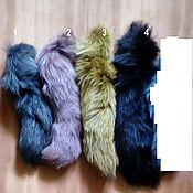 Материалы для творчества handmade. Livemaster - original item Accessories kits: Arctic Fox tails, painted. Handmade.
