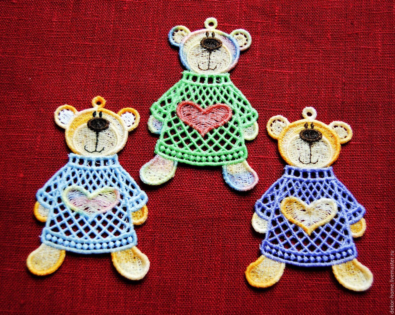 New Year 2019 handmade. Livemaster - handmade. Buy Set of Christmas toys 'Christmas bears 3' 3 pieces.
