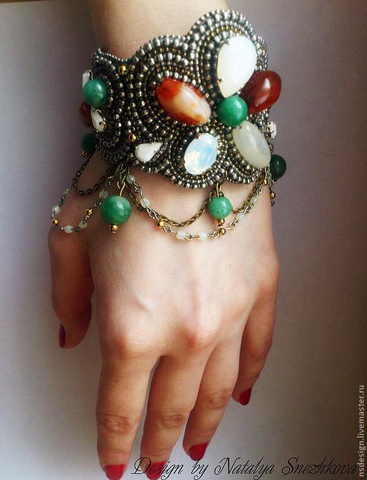 """Браслеты ручной работы. Ярмарка Мастеров - ручная работа. Купить Браслет """"Марокканский"""". Handmade. Браслет, браслет с кристаллами, бисерный браслет"""