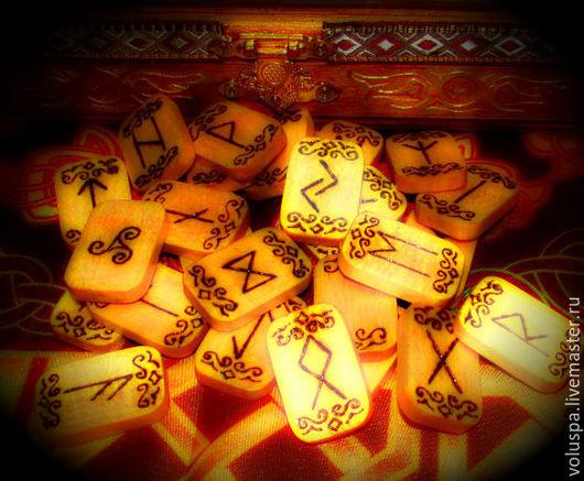 Гадания ручной работы. Ярмарка Мастеров - ручная работа. Купить Руны Скандинавские,Липа,(выжженые). Handmade. Разноцветный, руны из дерева