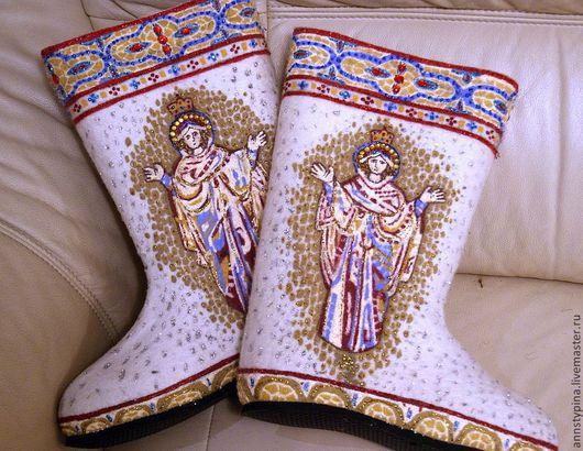 Обувь ручной работы. Ярмарка Мастеров - ручная работа. Купить мозаика 2. Handmade. Мозаика, валенки, дизайнерские валенки, зима