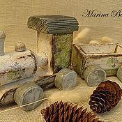 Куклы и игрушки ручной работы. Ярмарка Мастеров - ручная работа Паровозик - интерьерная игрушка. Handmade.