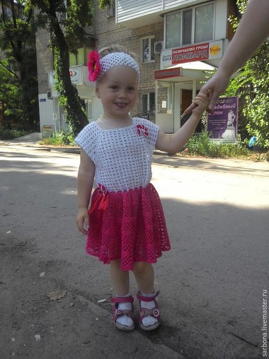 Одежда для девочек, ручной работы. Ярмарка Мастеров - ручная работа. Купить платице для юной леди. Handmade. Разноцветный, кружевное платье