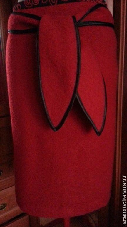 """Юбки ручной работы. Ярмарка Мастеров - ручная работа. Купить Юбка - карандаш   """"  Красная роза  """". Handmade."""