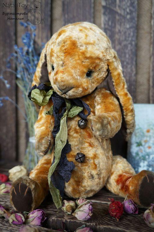 Мишки Тедди ручной работы. Ярмарка Мастеров - ручная работа. Купить Зайчик тедди Васька (Ароматный). Handmade. Коричневый, зайчик