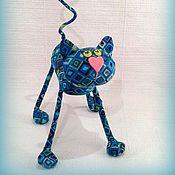 Куклы и игрушки ручной работы. Ярмарка Мастеров - ручная работа Котёнок ромбик  (12,5 см ))). Handmade.