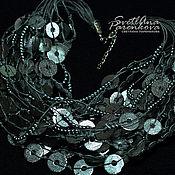 Украшения handmade. Livemaster - original item necklace polymer clay brilliant silver (27). Handmade.