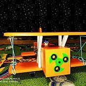 Бизиборды ручной работы. Ярмарка Мастеров - ручная работа Бизиборды: Самолет кукурузник. Handmade.