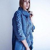 """Одежда ручной работы. Ярмарка Мастеров - ручная работа Кардиган вязаный женский - пальто  """"МАССИВ"""". Handmade."""