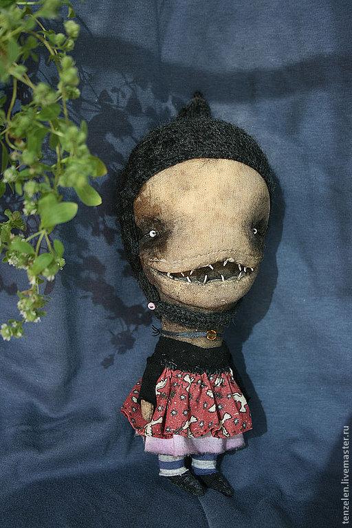 Сказочные персонажи ручной работы. Ярмарка Мастеров - ручная работа. Купить Зубастик. Handmade. Кукла, страшилка, трикотаж, папье-маше