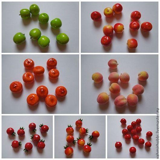 Другие виды рукоделия ручной работы. Ярмарка Мастеров - ручная работа. Купить Микро фрукты ок 2 см + новые фрукты. Handmade.