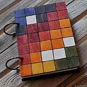 """Блокноты ручной работы. Ярмарка Мастеров - ручная работа Блокнот из дерева А6 """"Теплый"""". Handmade."""