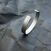 Украшения handmade. Livemaster - original item Bracelet medical steel FOREVER (machining Titanium). Handmade.
