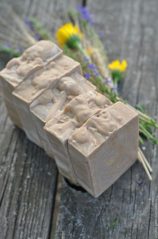 Мыло ручной работы. Ярмарка Мастеров - ручная работа. Купить Ореховый десерт, ароматное натуральное мыло на овсянке. Handmade. Бежевый