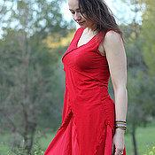 """Одежда ручной работы. Ярмарка Мастеров - ручная работа Топ """"Тева"""" трикотажный ярко красный. Handmade."""