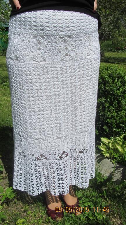 Юбки ручной работы. Ярмарка Мастеров - ручная работа. Купить Ажурная летняя юбка. Handmade. Белый, юбка, ажурная