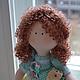 Коллекционные куклы ручной работы. Ярмарка Мастеров - ручная работа. Купить Кукла  малышка. Handmade. Тёмно-бирюзовый, хлопок