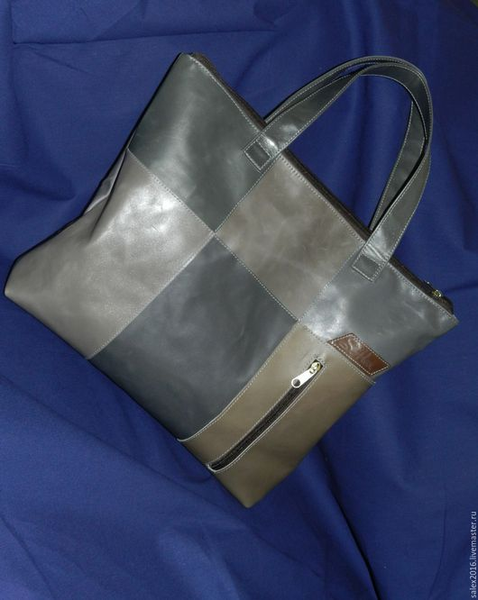 Женские сумки ручной работы. Ярмарка Мастеров - ручная работа. Купить Сумка из натуральной кожи - модель 3. Handmade. Комбинированный