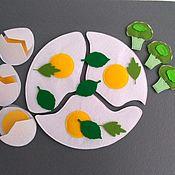 Куклы и игрушки handmade. Livemaster - original item Dollhouse food: Fried eggs with felt greens.. Handmade.