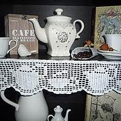 """Для дома и интерьера ручной работы. Ярмарка Мастеров - ручная работа Кайма хлопковая """" Посуда"""". Handmade."""