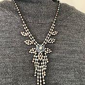 Винтаж handmade. Livemaster - original item Vintage necklace with rhinestones