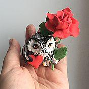 """Подарки к праздникам ручной работы. Ярмарка Мастеров - ручная работа фигурка """"Совушка с сердцем и розой"""" ( сова роза). Handmade."""