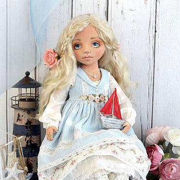 Куклы и игрушки ручной работы. Ярмарка Мастеров - ручная работа Юная Ассоль, текстильная коллекционная авторская кукла. Handmade.