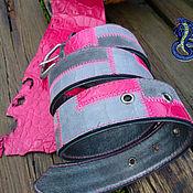 Аксессуары handmade. Livemaster - original item Belt made of suede with leather