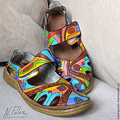 Slingbacks handmade. Livemaster - original item Painting on shoes. Sandals