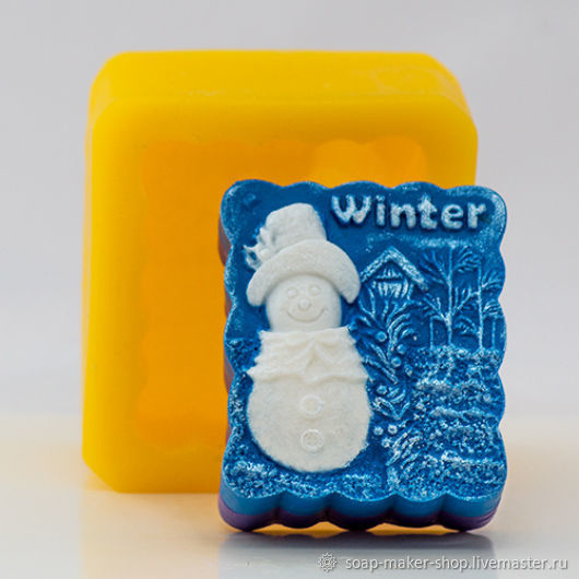 Silicone mold for soap 'Winter', Form, Shahty,  Фото №1
