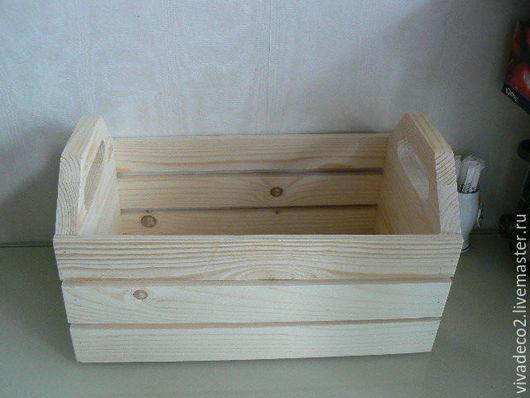 Заготовка из дерева.Ящик реечный сосновый 29х18,5х18.   570 руб  60