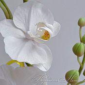 Цветы ручной работы. Ярмарка Мастеров - ручная работа Орхидея из холодного фарфора.Фаленопсис белый танец. Handmade.