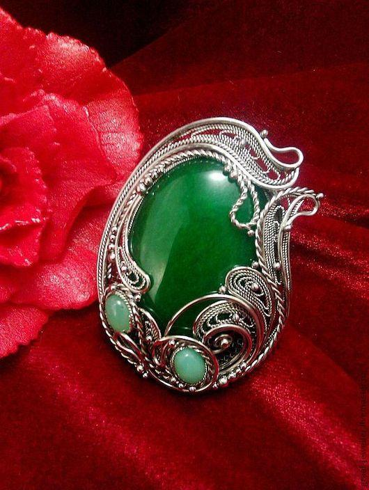 """Кольца ручной работы. Ярмарка Мастеров - ручная работа. Купить Кольцо с хризопразом """"Магия изумрудного."""". Handmade. Зеленый"""