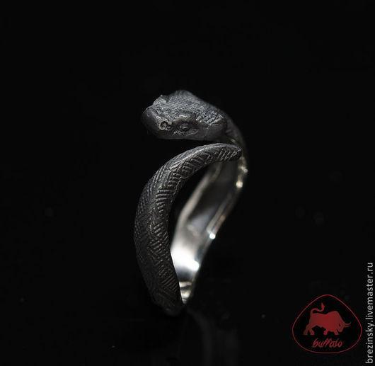 """Кольца ручной работы. Ярмарка Мастеров - ручная работа. Купить Серебряное кольцо """" Черная змея""""  (черненое серебро). Handmade."""