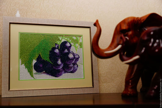 Картины цветов ручной работы. Ярмарка Мастеров - ручная работа. Купить Картина. Виноградная гроздь. Handmade. Комбинированный, виноградная гроздь