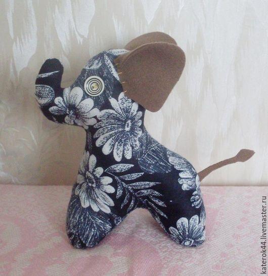 Игрушки животные, ручной работы. Ярмарка Мастеров - ручная работа. Купить Африканский слон. Handmade. Черный, животные африки