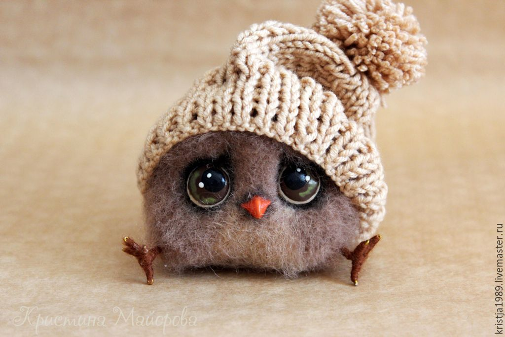 owlet filimonchik felted toy shop online on livemaster with