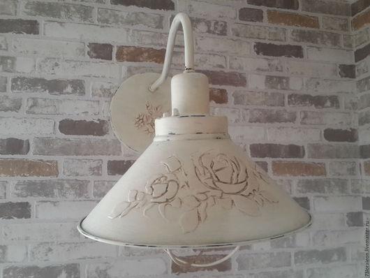 """Освещение ручной работы. Ярмарка Мастеров - ручная работа. Купить Настенный светильник """"Нежность розы"""" (2). Handmade. Кремовый"""
