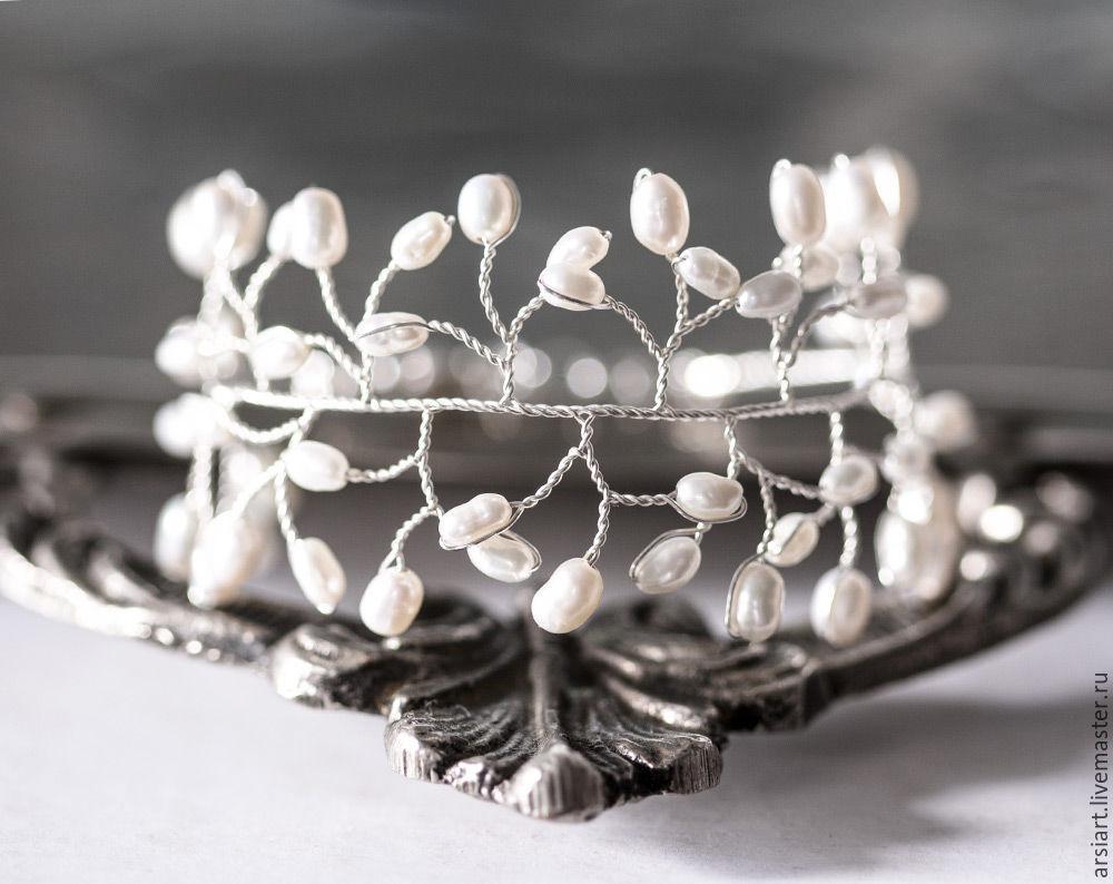 61 Pearl bracelet, Bridal bracelet silver with pearl Bracelet, Bracelets, Athens,  Фото №1