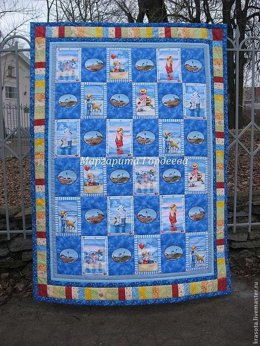 """Пледы и одеяла ручной работы. Ярмарка Мастеров - ручная работа. Купить Детское лоскутное одеяло """"Коктебель..."""" Авторская работа. Handmade."""